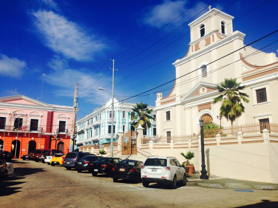 Arecibo City. Apart from this church, the rest were all just hospitals or clinics.